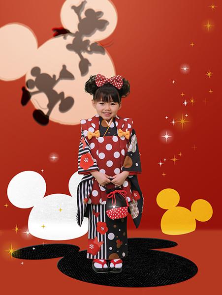 ミニーマウス(3歳女児 被布)