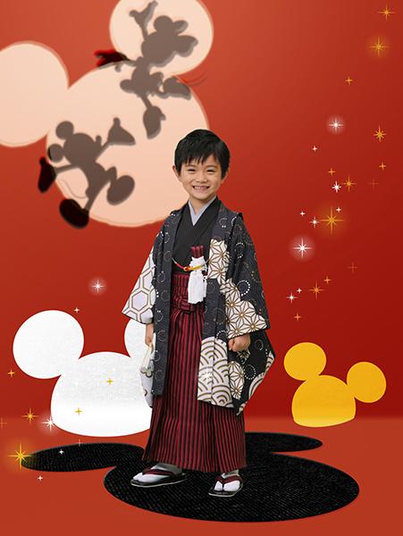 ミッキーマウス(5歳男児 羽織)