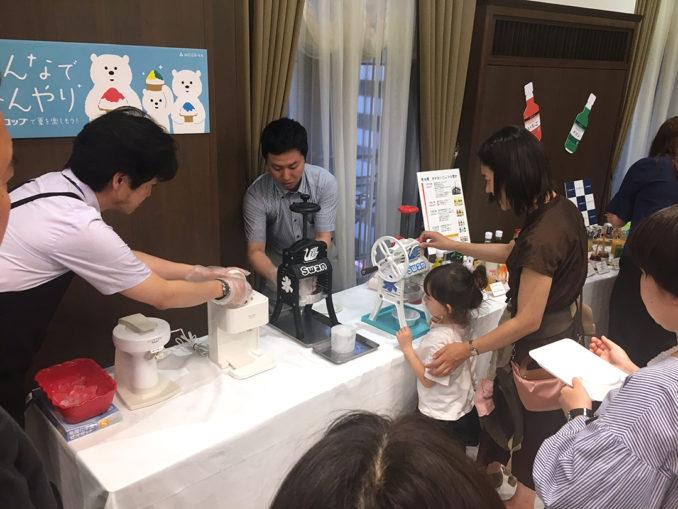 新たに親子向けの「京橋かき氷コレクション 昼の部」を開催