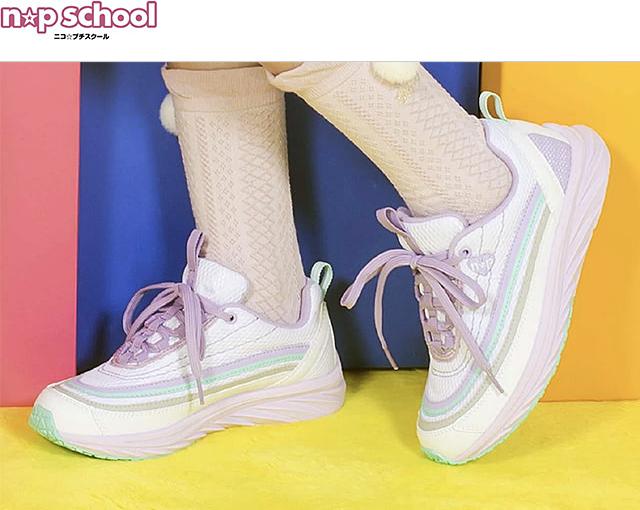 春の足元はこれで決まり!人気ブランド「n☆p school(ニコ☆プチスクール)」から厚底スニーカー新発売。通学服に可愛い魔法♡